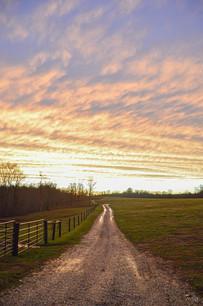 Farm Road Sunset