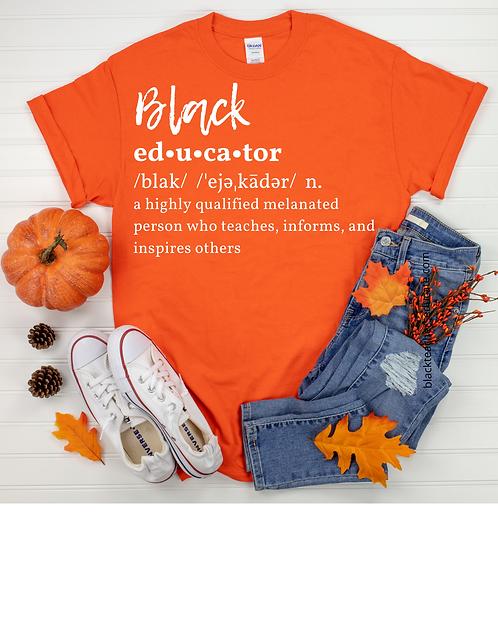 Definition of a Black Educator (orange)