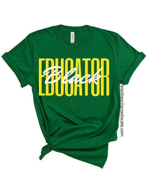 Black Educator in Green