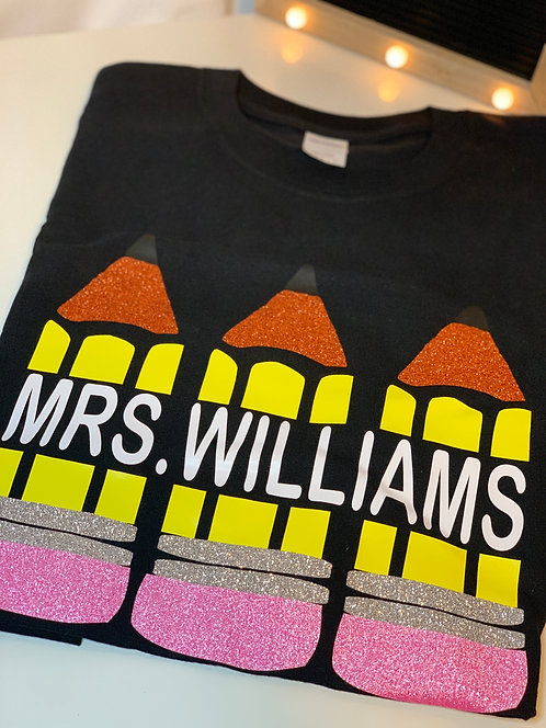 Personalized Pencil T-Shirt