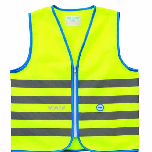Fun jacket reflectie kinderen geel