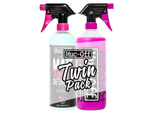 MUC OFF Muc-off twin pack 1l fietsreiniger 750ml matt fini