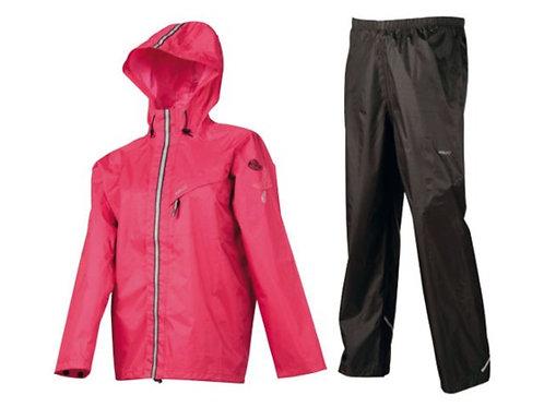 AGU Regenpak meisjes splash roze 128