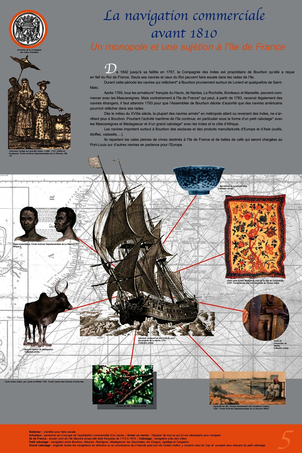 La navigation commerciale avant 1810