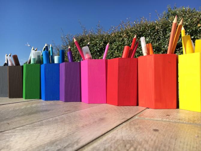 DIY Les pots à crayons d'inspiration MONTESSORI