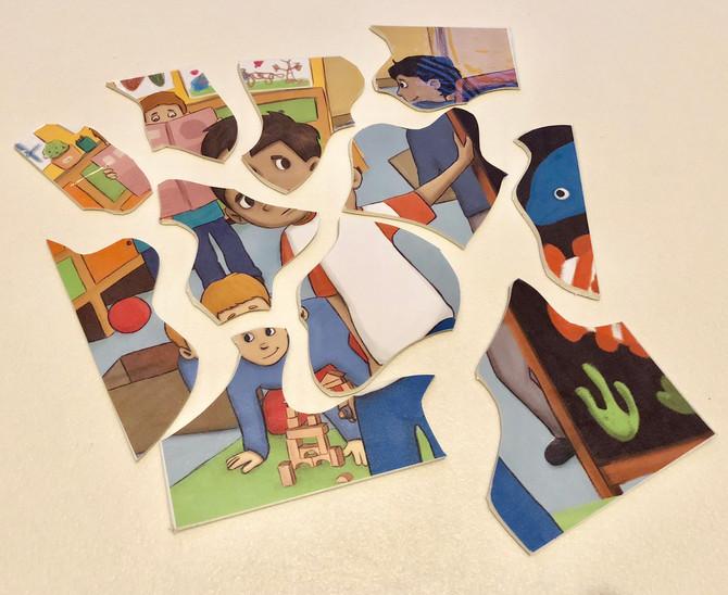 Fabriquer ses propres puzzles avec...du lino!