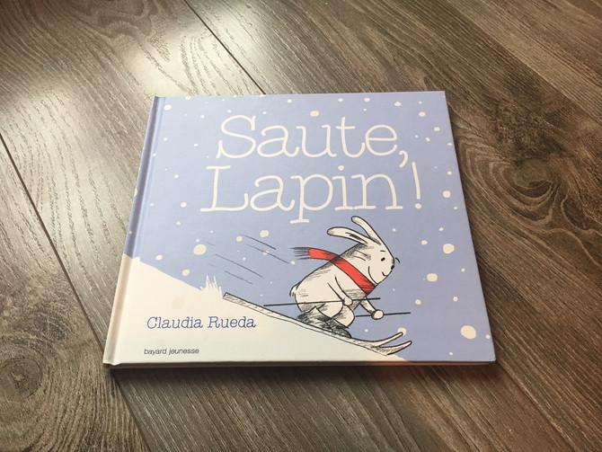 """""""Saute lapin!"""", un livre interactif sur le thème de l'hiver."""