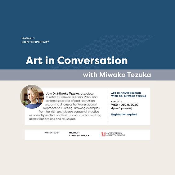 Art in Conversation with Miwako Tezuka