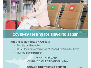 Straub DOC at the Sheraton Waikiki Now Offering COVID-19 Testing for Travel to Japan