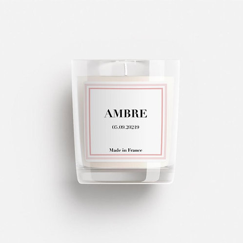 BOUGIE PERSONNALISABLE