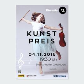 Gestaltung Plakat für den Kiwanis Kunstpreis