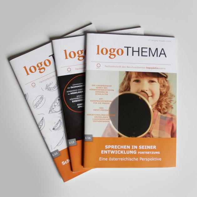 """Redesign + Layoutgestaltung für das Magazin """"Logothema"""" von Logopädieverband Österreich"""