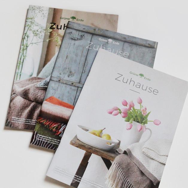 Konzept und Layoutgestaltung der Zuhause Kataloge von Grüne Erde