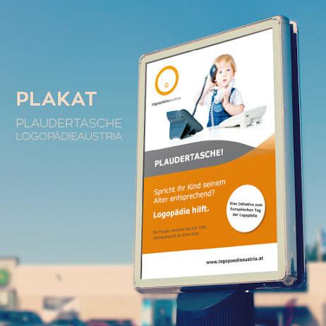 Plakat für Logopädieverband Österreich