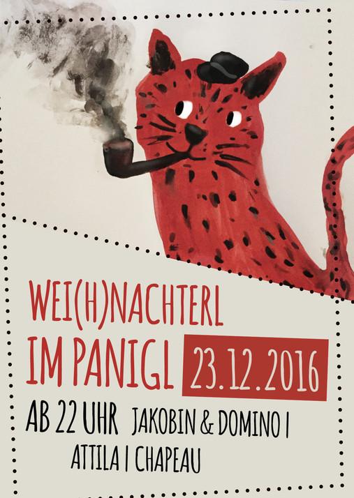 """Flyer + Facebookwerbung für die Musikveranstaltung """"Wei(h)nachterl"""""""