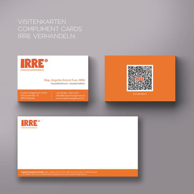 Geschäftsdrucksorten für IRRE verhandeln