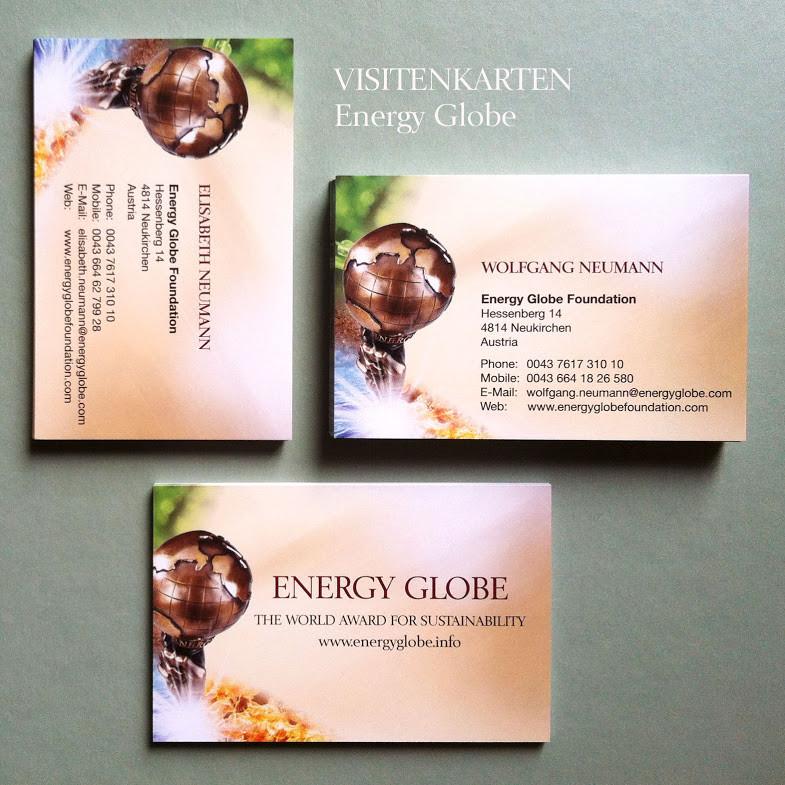 Visitenkartengestaltung Energy Globe