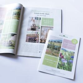 Kleiner Auszug der gestalteten Grüne Erde-Welt Werbemittel