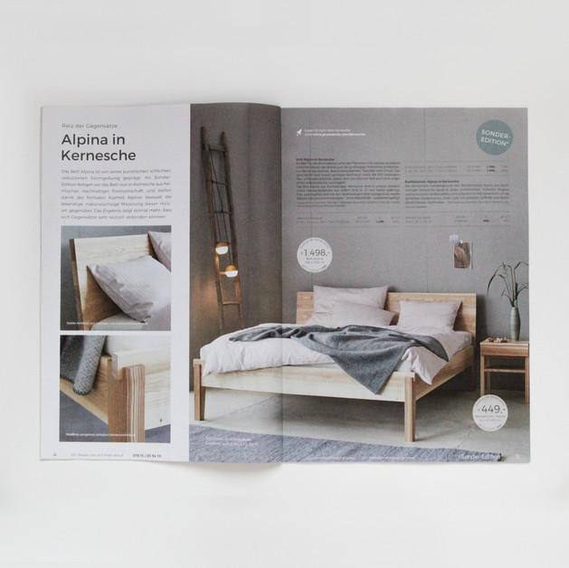 """Layoutgestaltung des Katalogs """"Sonder-Edition"""" von Grüne Erde"""