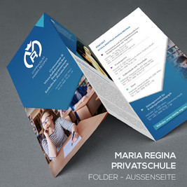 Folder- und Werbemittelgestaltung für das Gymnasium Maria Regina in Wien