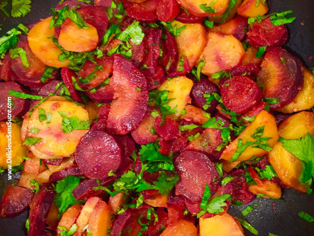 Salade de carottes tièdes