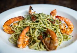 Pesto Linguini with Shrimp