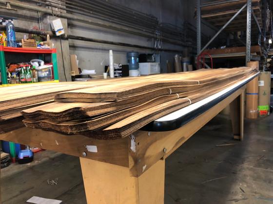 Working with Raw wood Veneers.
