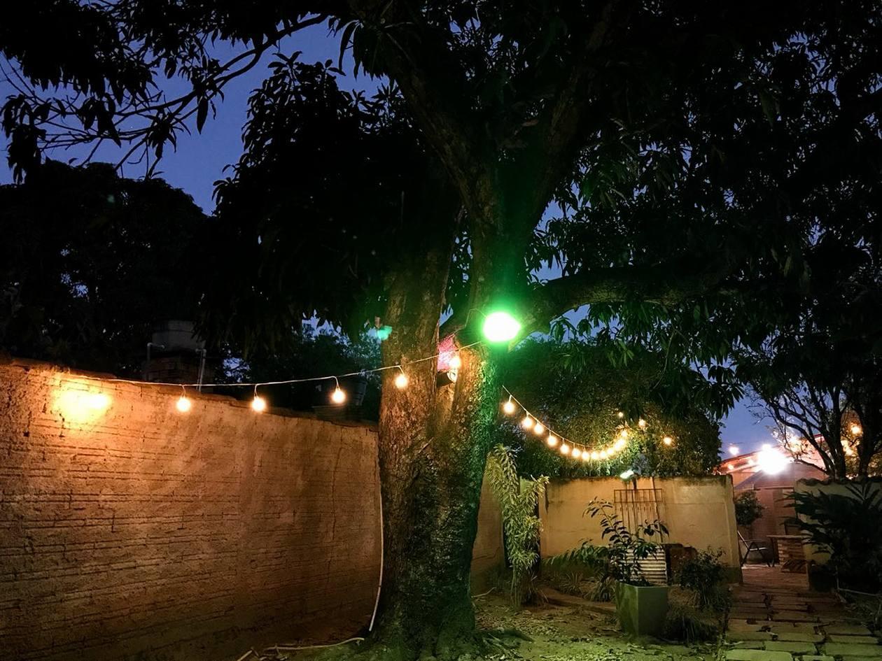 Camping à noite