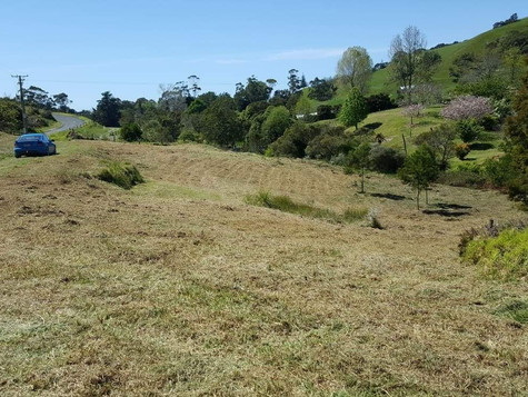 Kikuyu grass mulching after