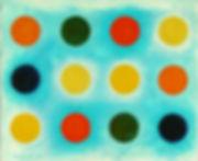 AY-O 靉嘔 1958 38.0×45.7cm Oil on canvas