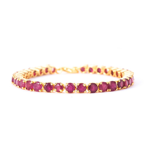 Taj rubies gold bracelet