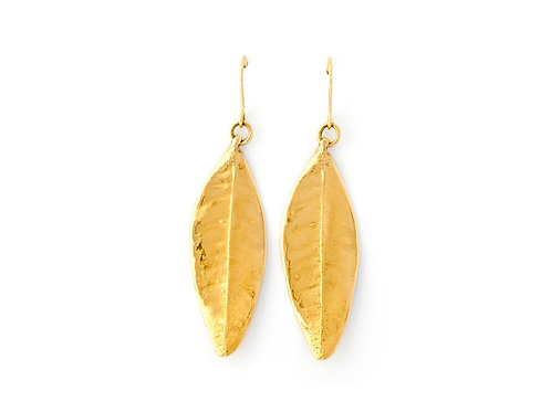jewelry stores leaves gold earrings