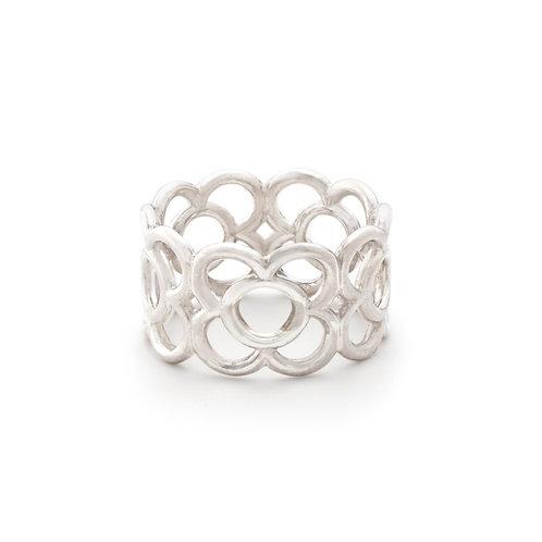 Gaudi silver ring