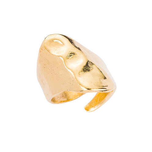 Gold ring handmade jewelry