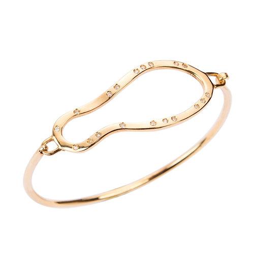 cloud gold diamonds bracelet