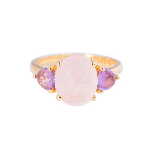 Pink cocktail ring taj collection