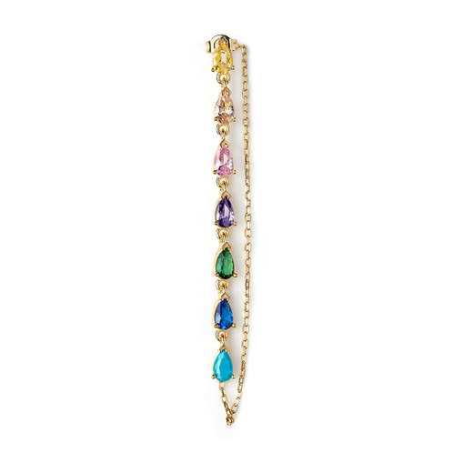 rainbow dallas single earring