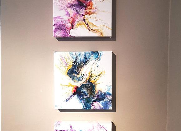 Triptyque acrylique
