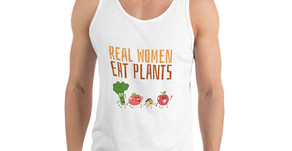 Real Women Eat Plants Unisex Tank Top All Veggies