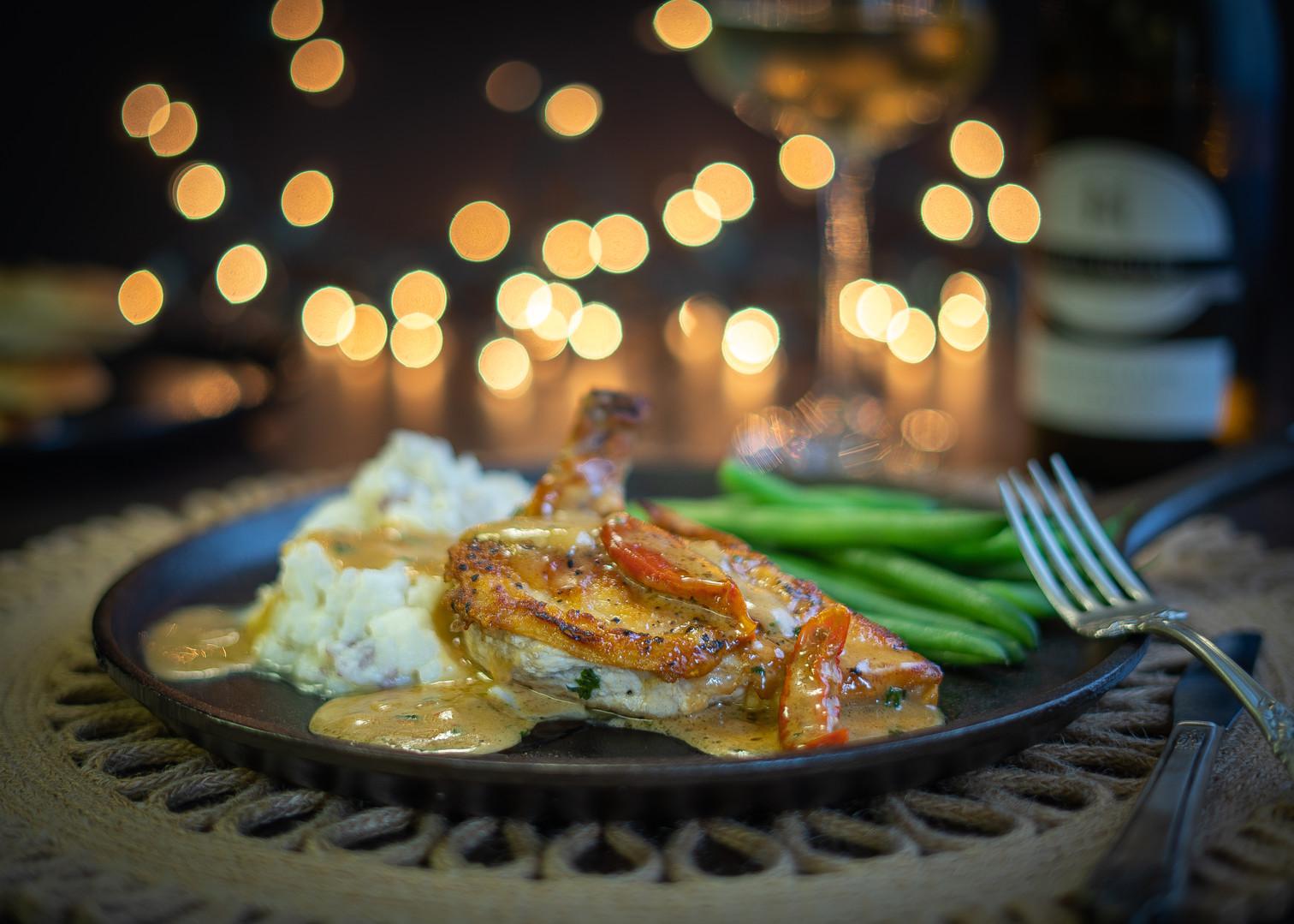 Airline Chicken with Creamy Parmesan Sau