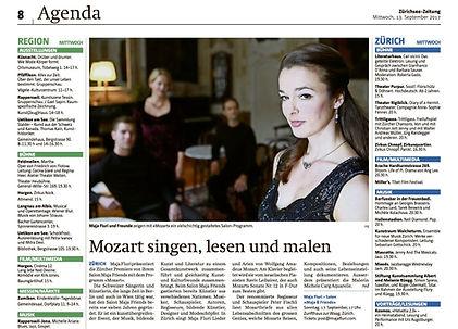 Maja Fluri in der Zürichse Zeitug