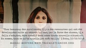 Cancer, les lésions dangereuses: dossier paru dans L'Echo des 10-11/02/2018