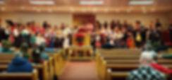 Youth singing, Sunday Morning Service