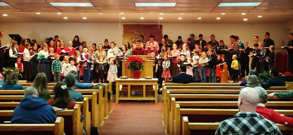 Youth singing, Sunday Morning Service
