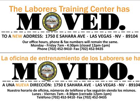 New Training Center Address