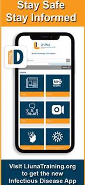 LIUNA Infectious Disease App and Online Course