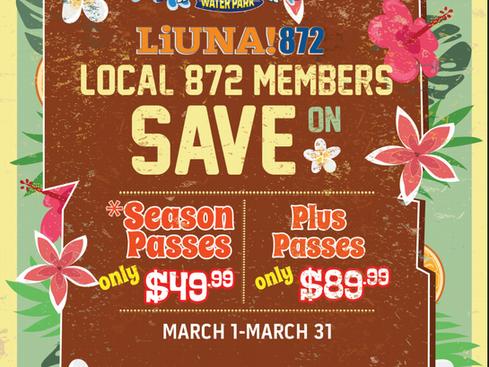 872 Discount at Cowabunga Bay