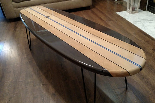 Old School Long board Surfboard Coffee Table