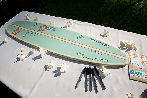Wedding Surfboard Guestbook Personalized 4' or 5'