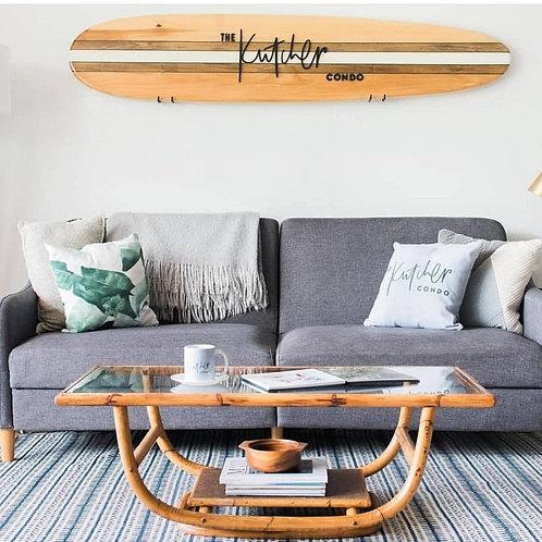 Custom Decorative Wooden Surfboard